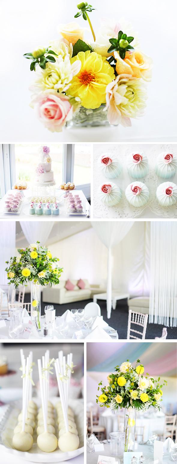 pastel wedding at Alrewas Hayes