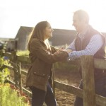 Engagement shoot on at farm with Louis & Georgina