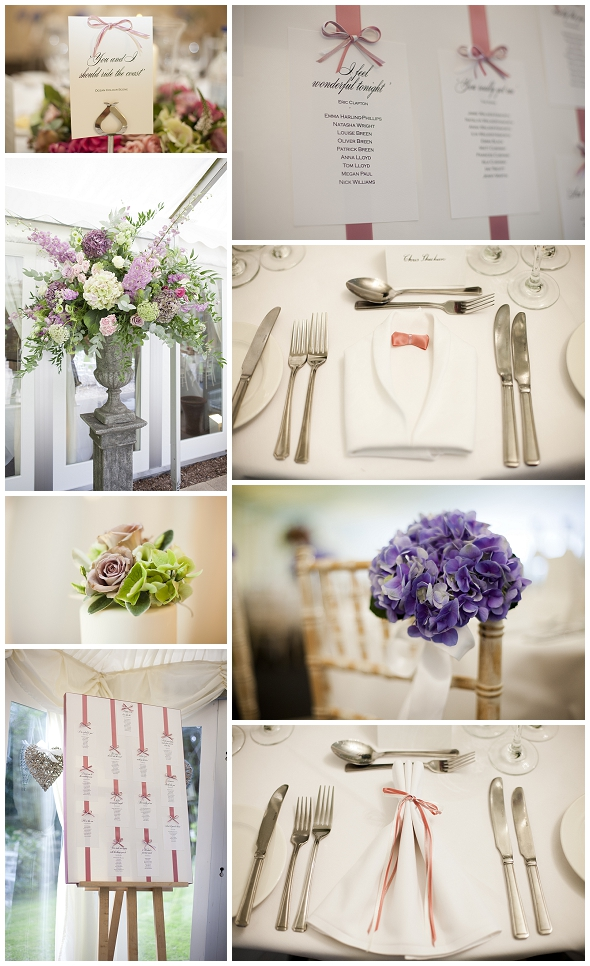 Vintage pink wedding at Newhall