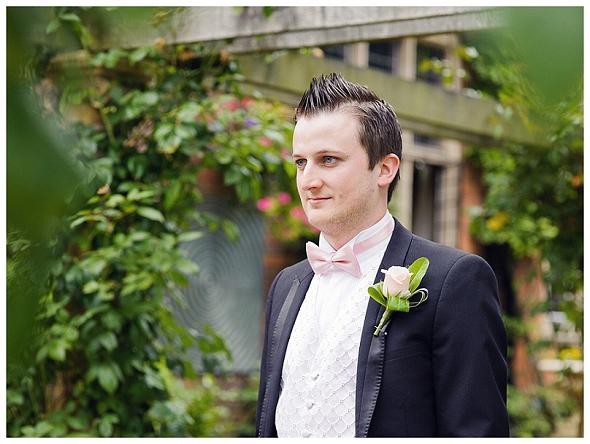 Groom at Moxhull Hall Wedding