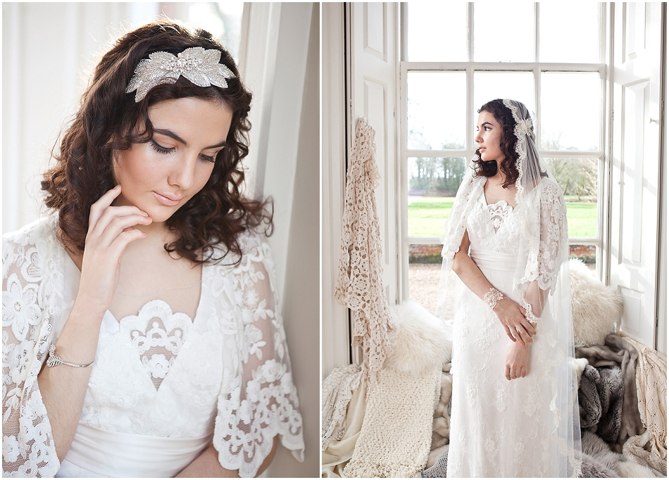 Bridal shoot at Iscoyd Park