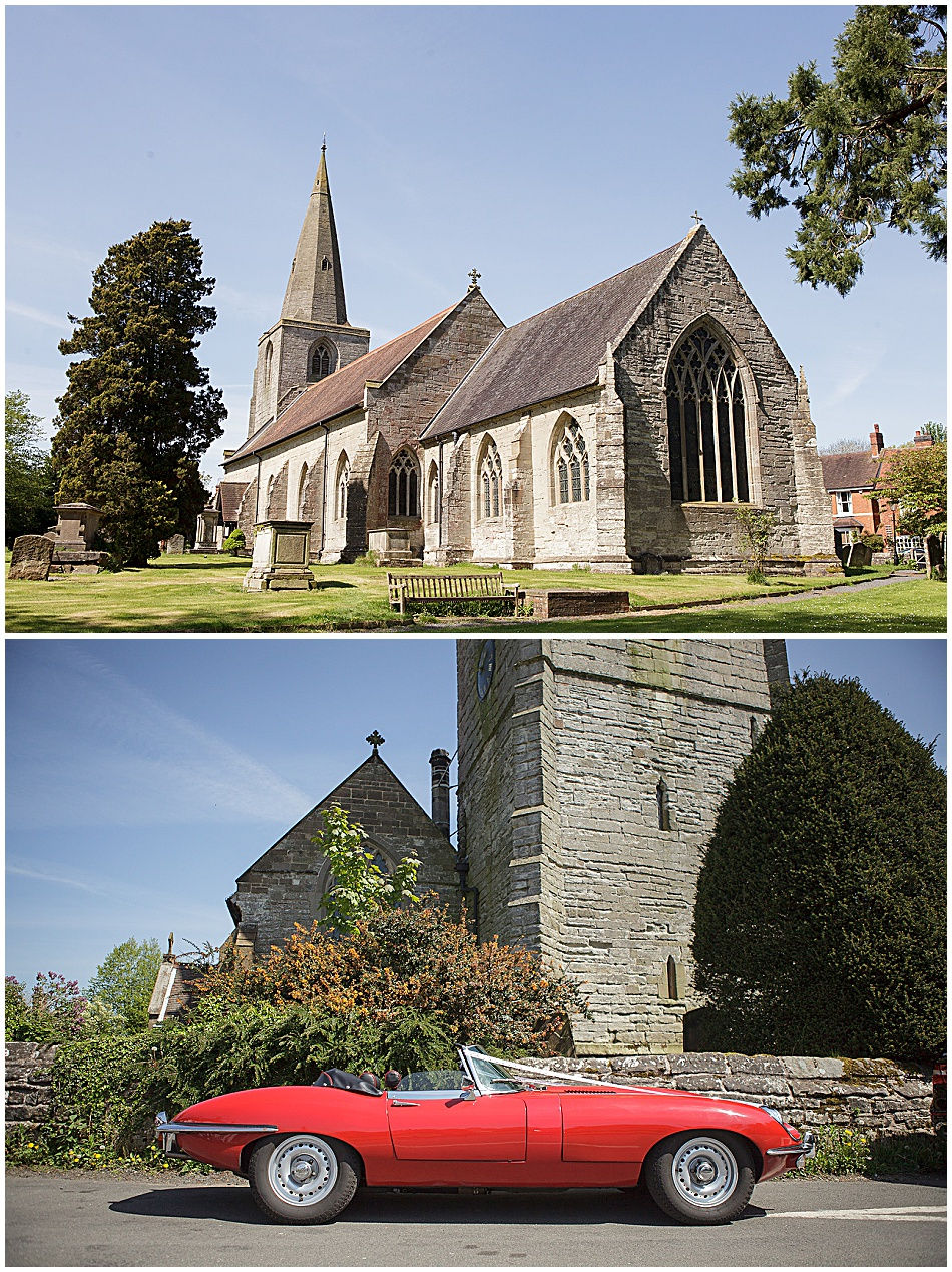 wedding St Mary Magdalene Tanworth in Arden
