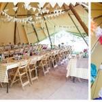 Jules & Tom - Tipi wedding photography at Talton Lodge