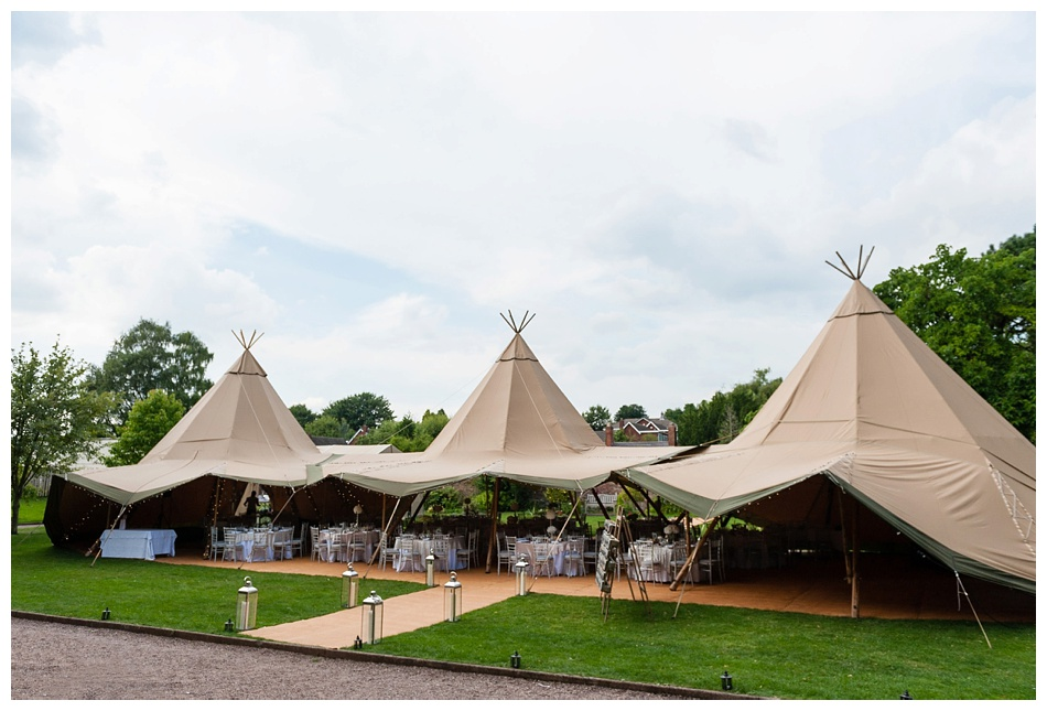 glam tipi wedding