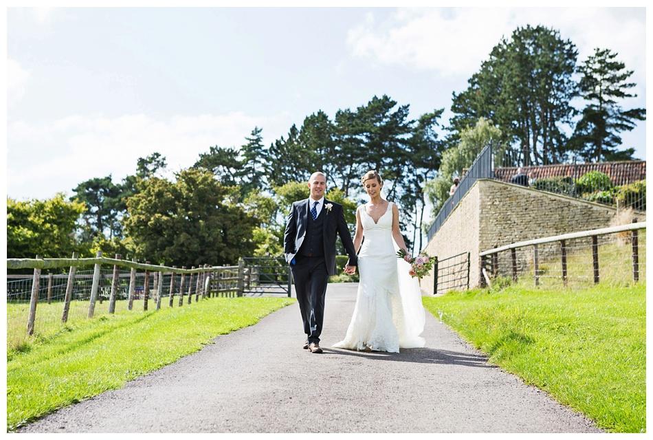 wedding at Kingscote Barn, Gloucestershire