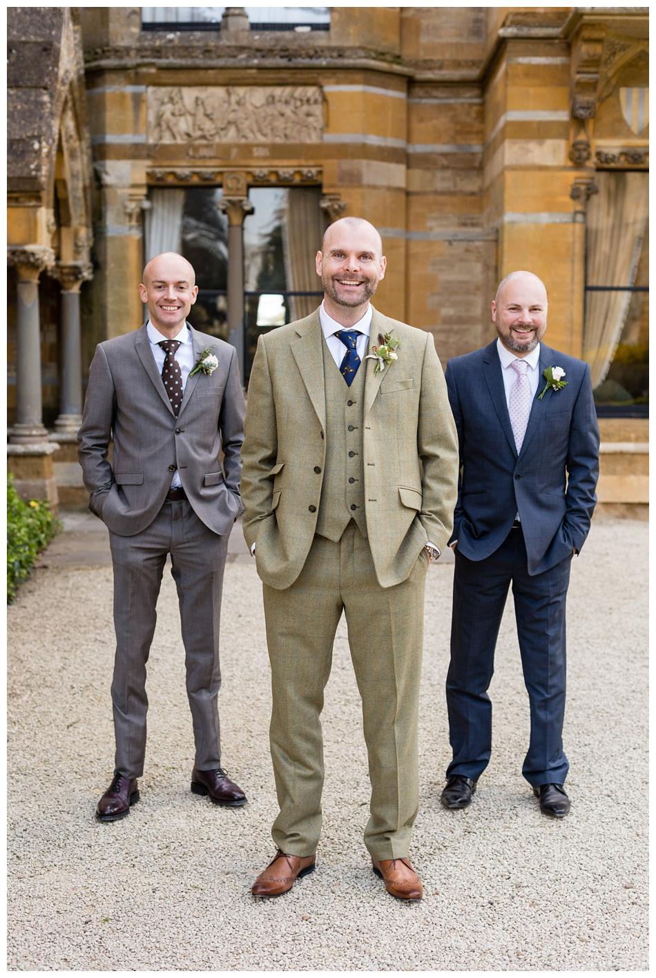 Groomsmen at Ettington Park Wedding