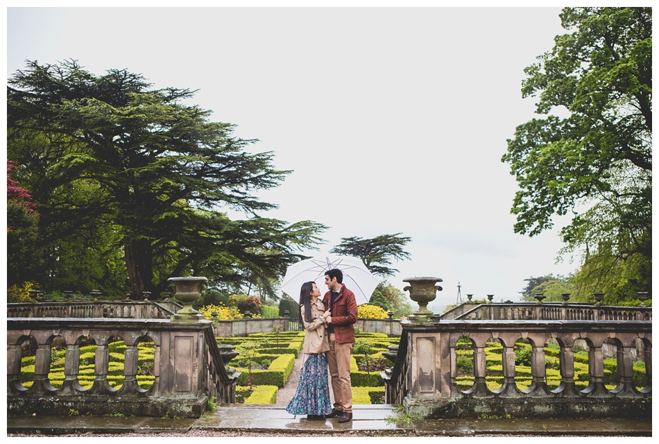 rainy pre wedding shoot at Heath House