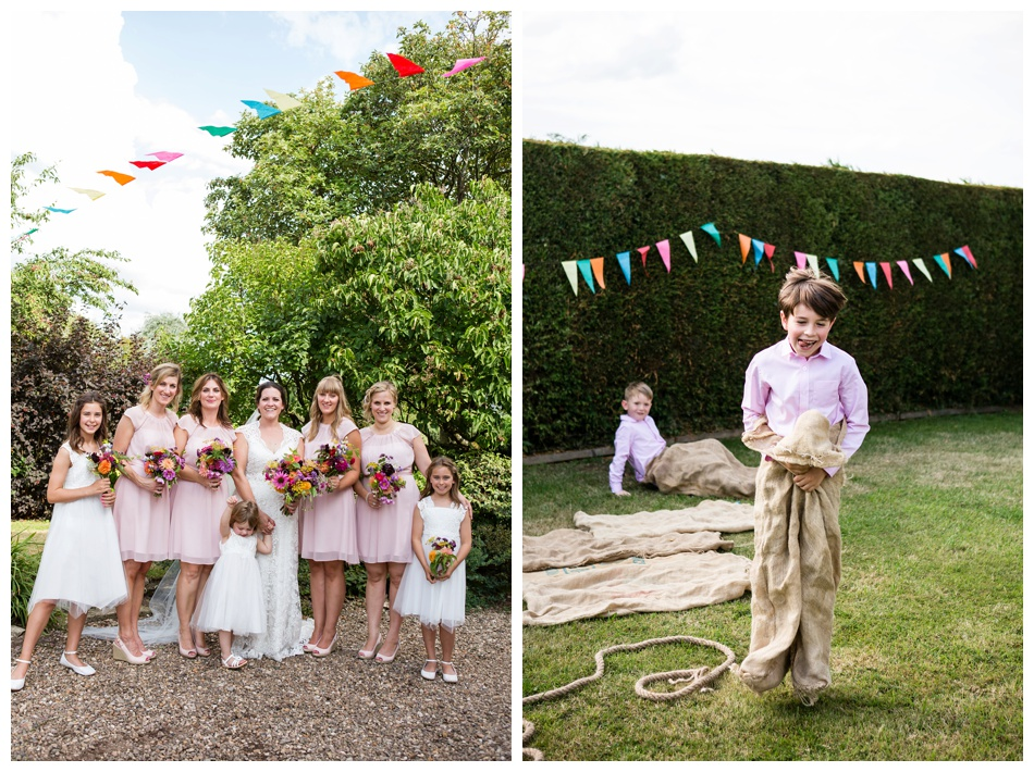 country garden wedding in Worcestershire