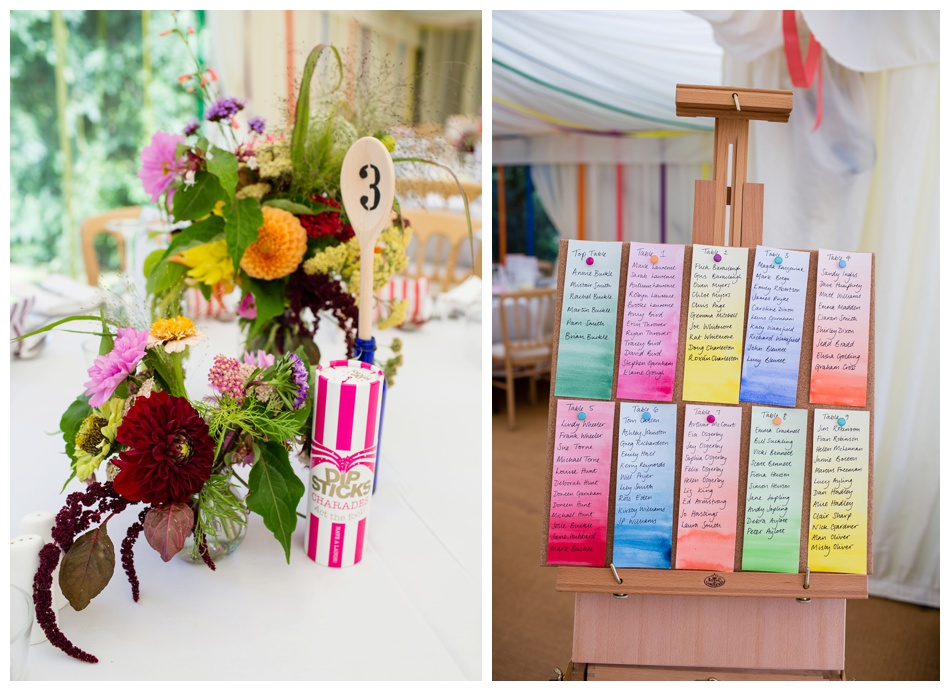 colourful country wedding