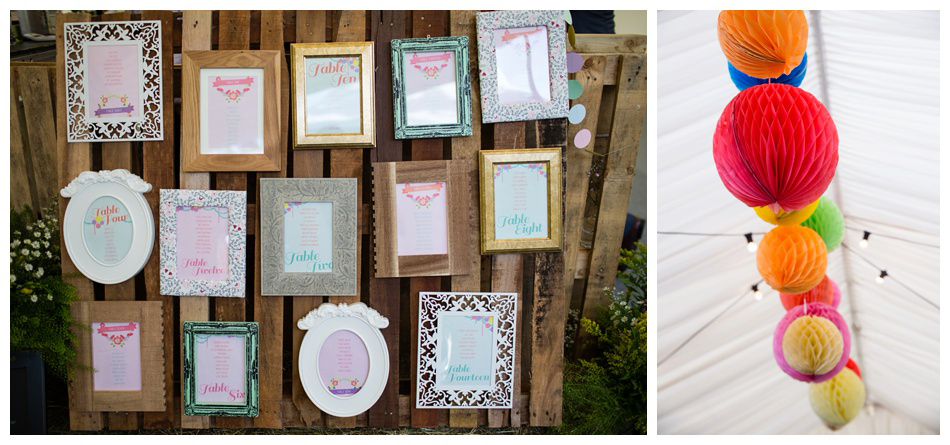 table plan using picture frames