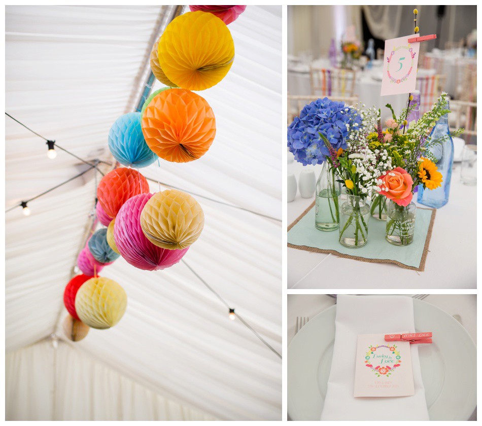colourful wedding lanterns
