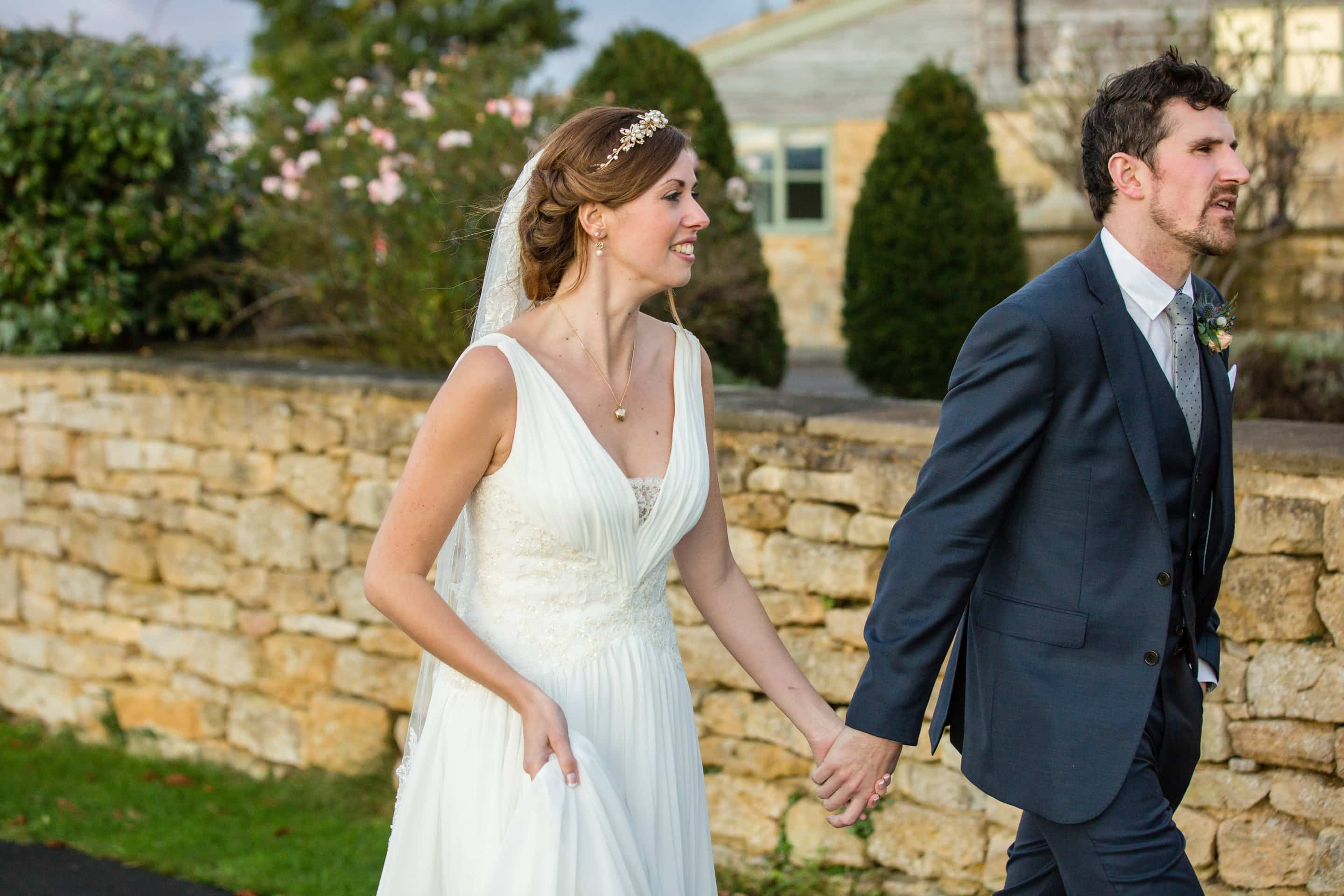 Autumn Deer Park Hall Wedding Pershore Abbey Ceremony
