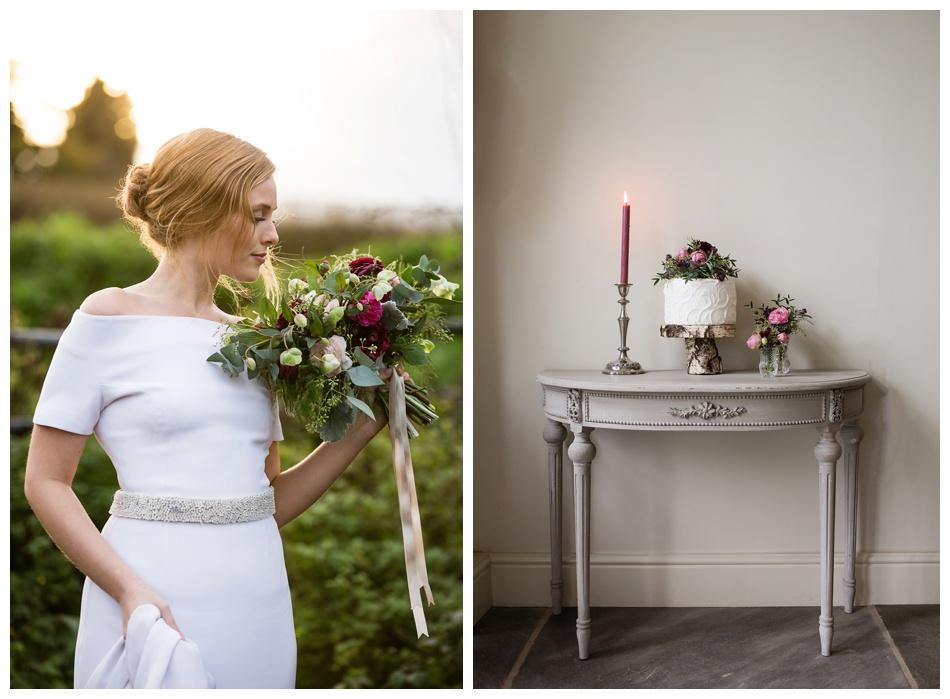 winter bridal inspiration photography