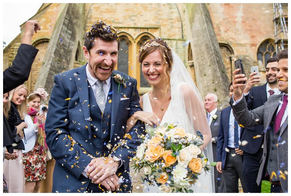 wedding photos at Pershore Abbey