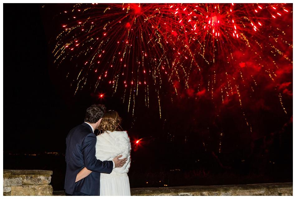 wedding fireworks at Deer Park Hall