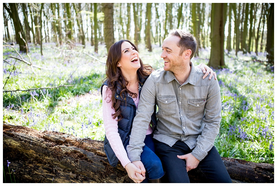 bluebells engagement shoot