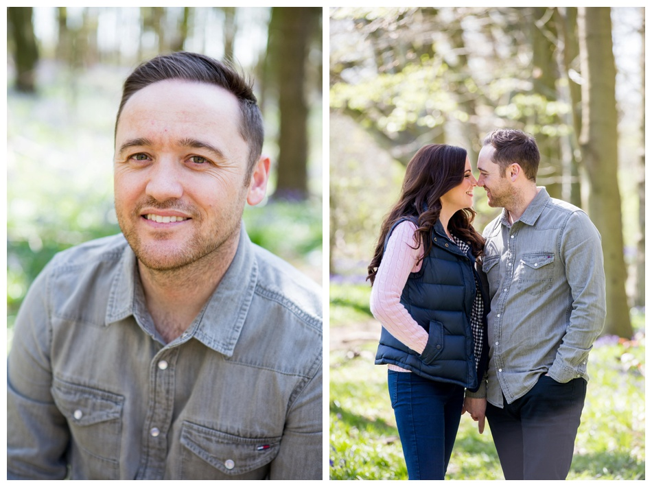 English spring engagement shoot