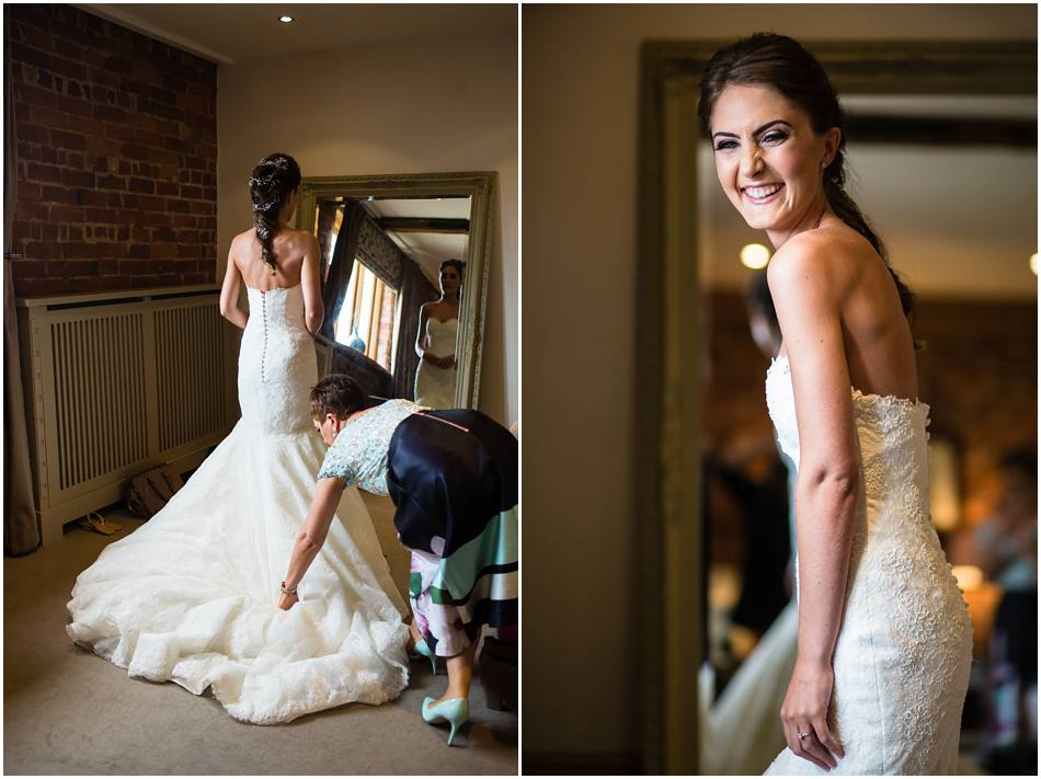 Wedding photography at Curradine Barns