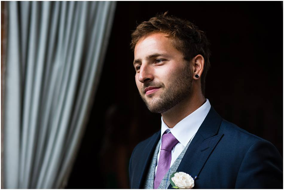 Groom at Shustoke Farm Barns