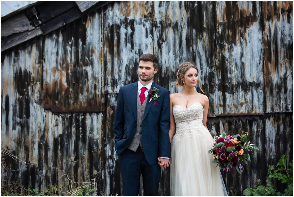 Cosy Autumn wedding at Curradine Barns