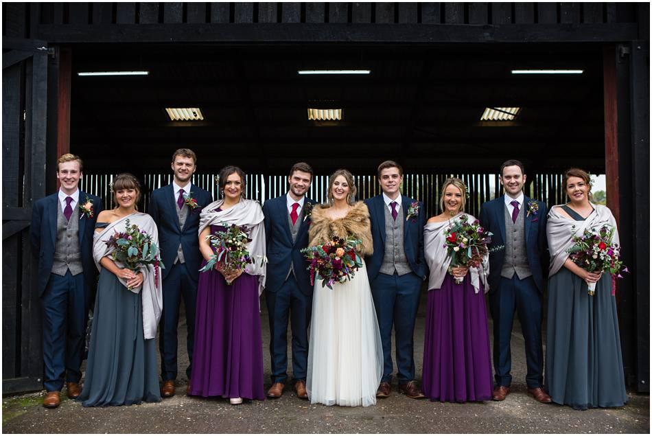 Autumn wedding at Curradine Barns