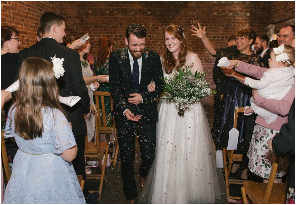 confetti inside at this vintage diy inspired Curradine Barns wedding