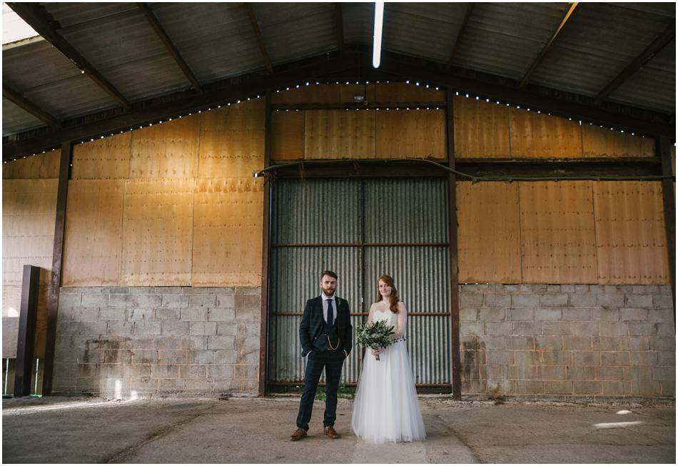 Curradine Barns Wedding Photography; vintage style Bride with Bearded Groom