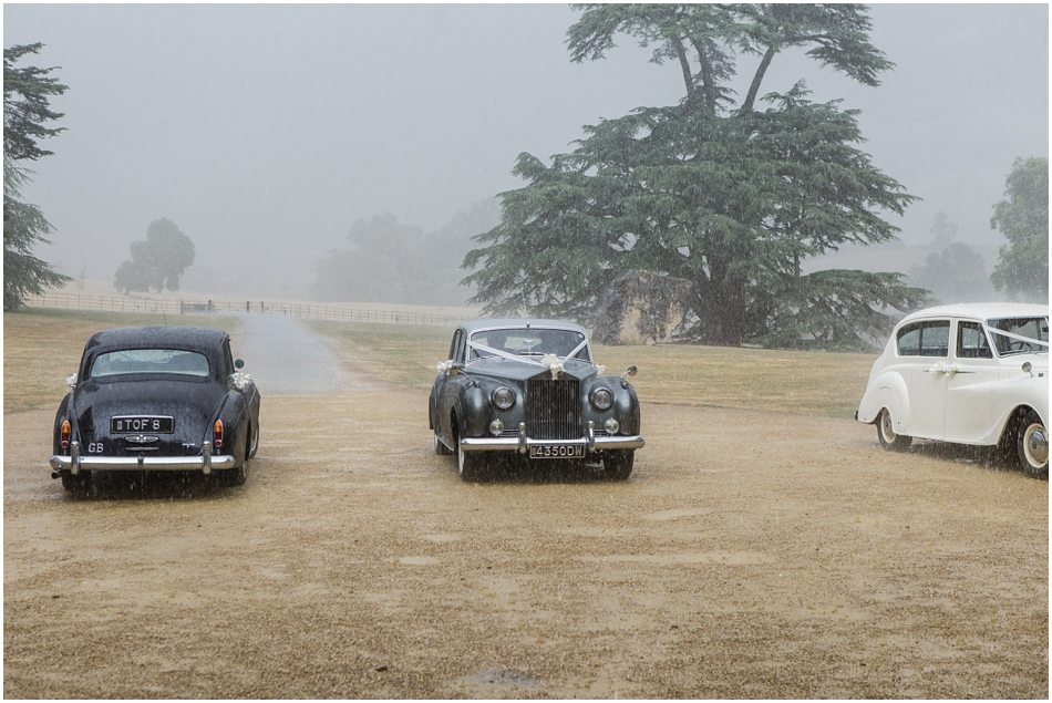 rainy wedding at Compton Verney