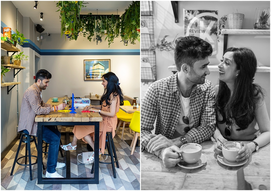 Digbeth Engagement shoot in a cool coffee shop