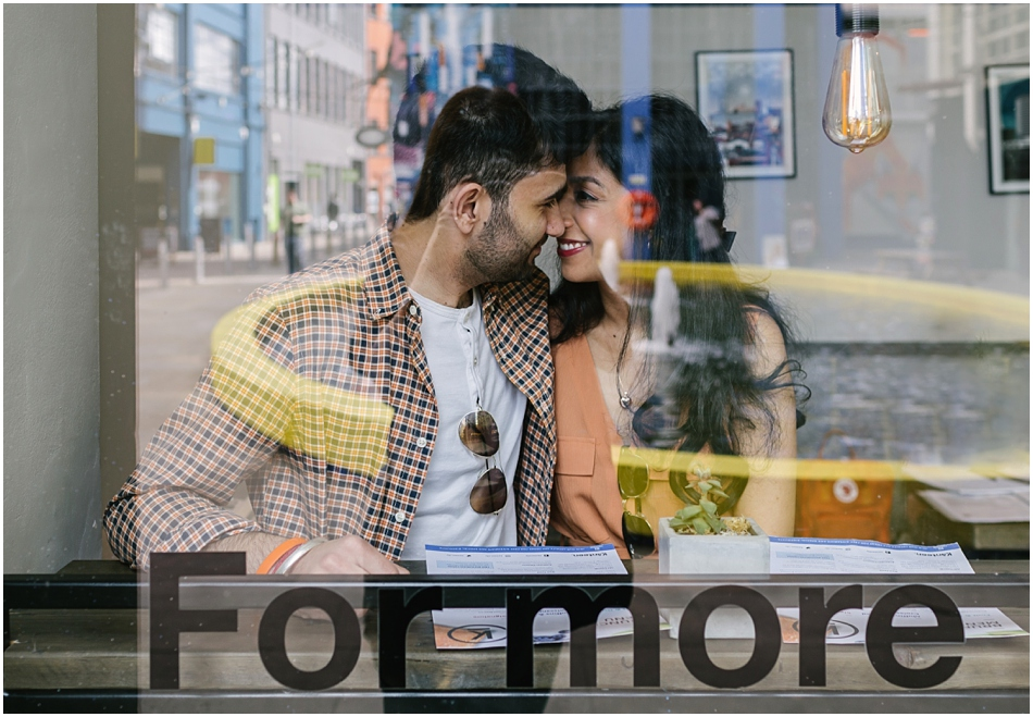 Digbeth engagement shoot in a cool cafe