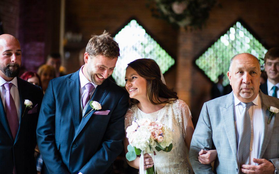Shustoke Barn Wedding Featuring Jenny Packham Beaded Dress