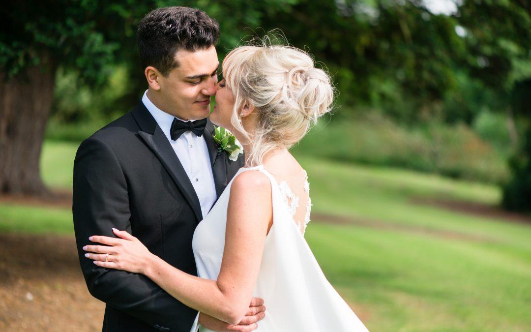 Stylish Black Tie Ettington Park Wedding