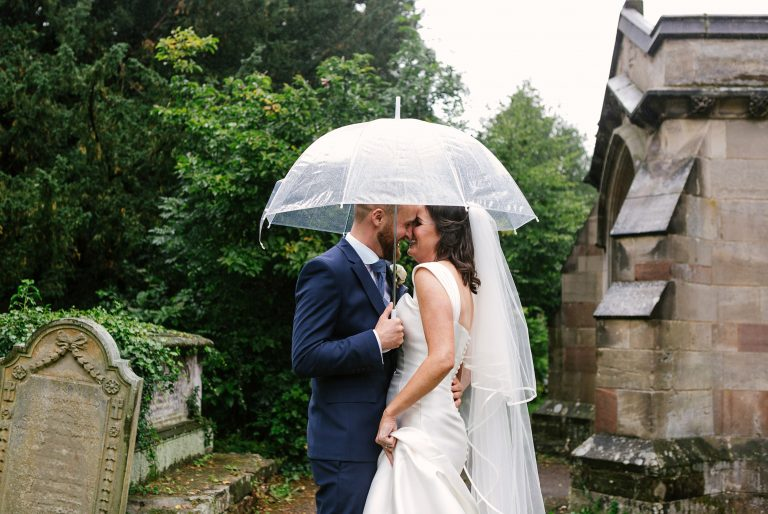 Rainy wedding at Hampton Manor