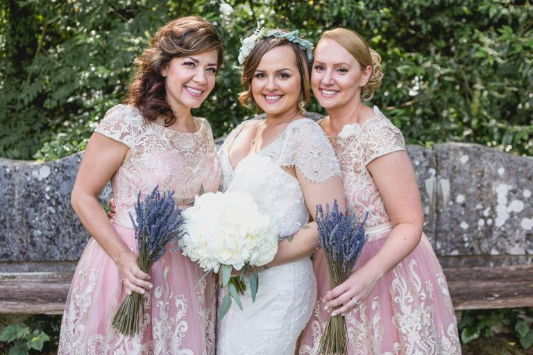 Bride and Bridesmaids at Hampton Manor wedding