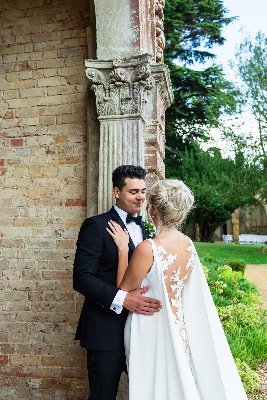 Ettington Park Hotel wedding photography; Bride and Groom portrait