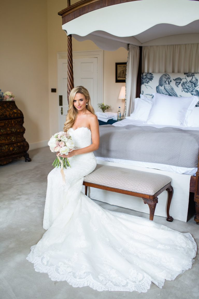 Iscoyd Park wedding photography; Bride in the bridal suite