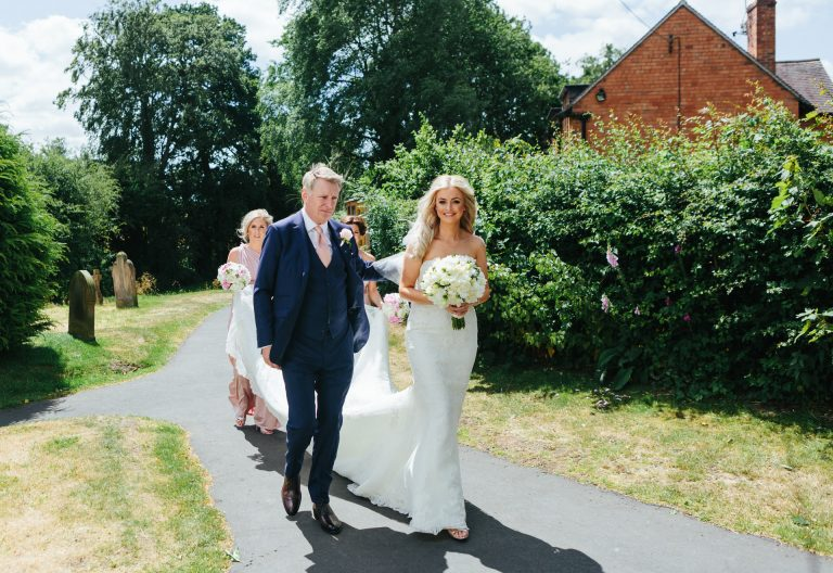 wedding at St Mary's Whitewell