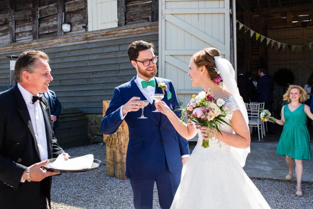 colourful rustic Pimhill Barn wedding