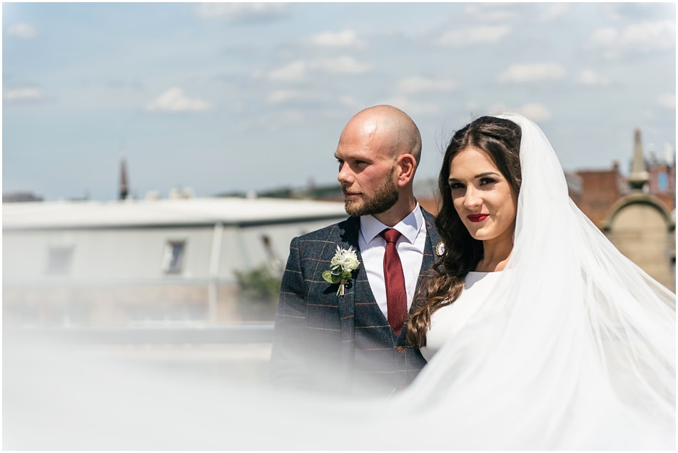 City wedding photography at Hope Street Hotel