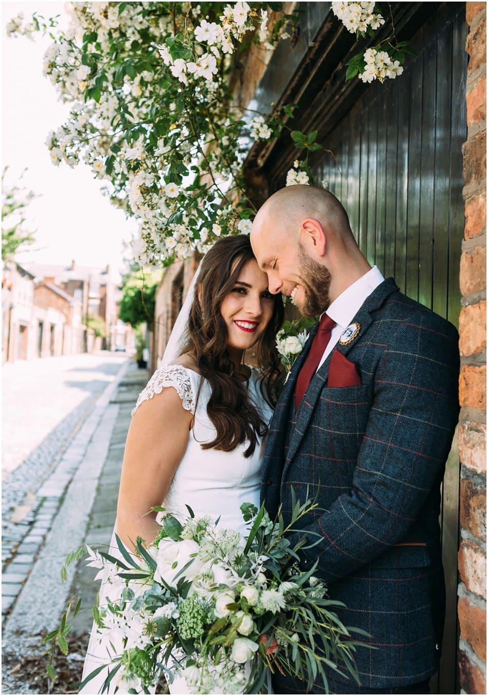 Hope Street Hotel wedding photography; Bride and Groom portrait