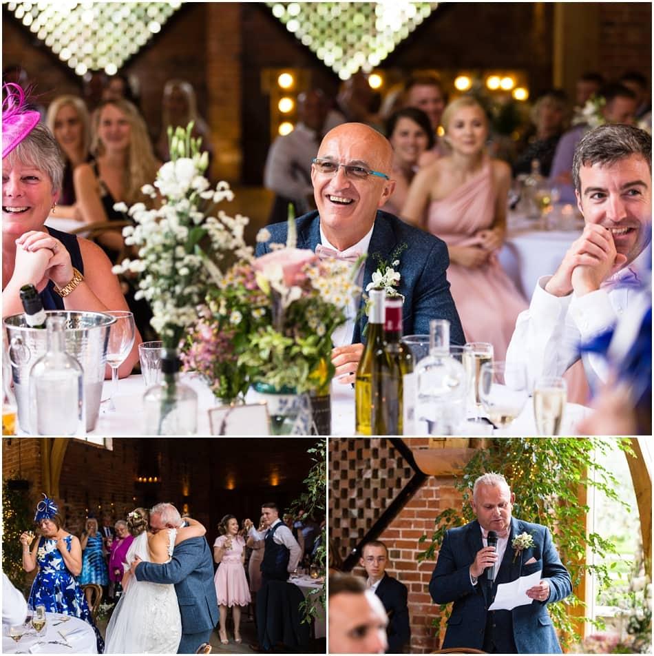 shustoke Barn wedding photography; speeches