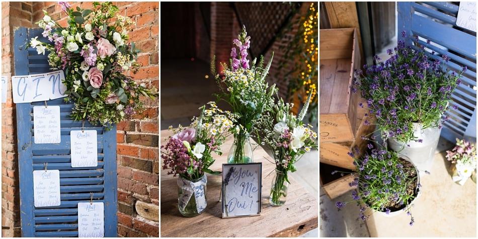 Shustoke Barn wedding photography; rustic styling table details