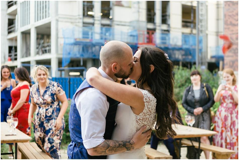 Siren wedding photography; the first dance outside