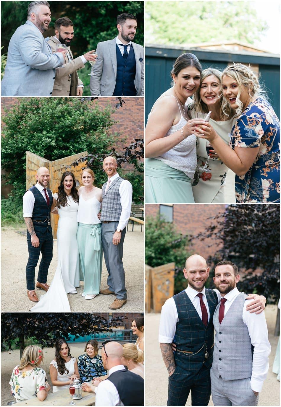 informal wedding photography at Siren Liverpool
