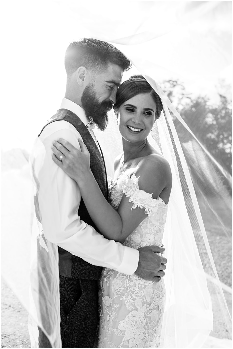 Shustoke Barn wedding photography | portrait of a Bride & Groom on their wedding day.