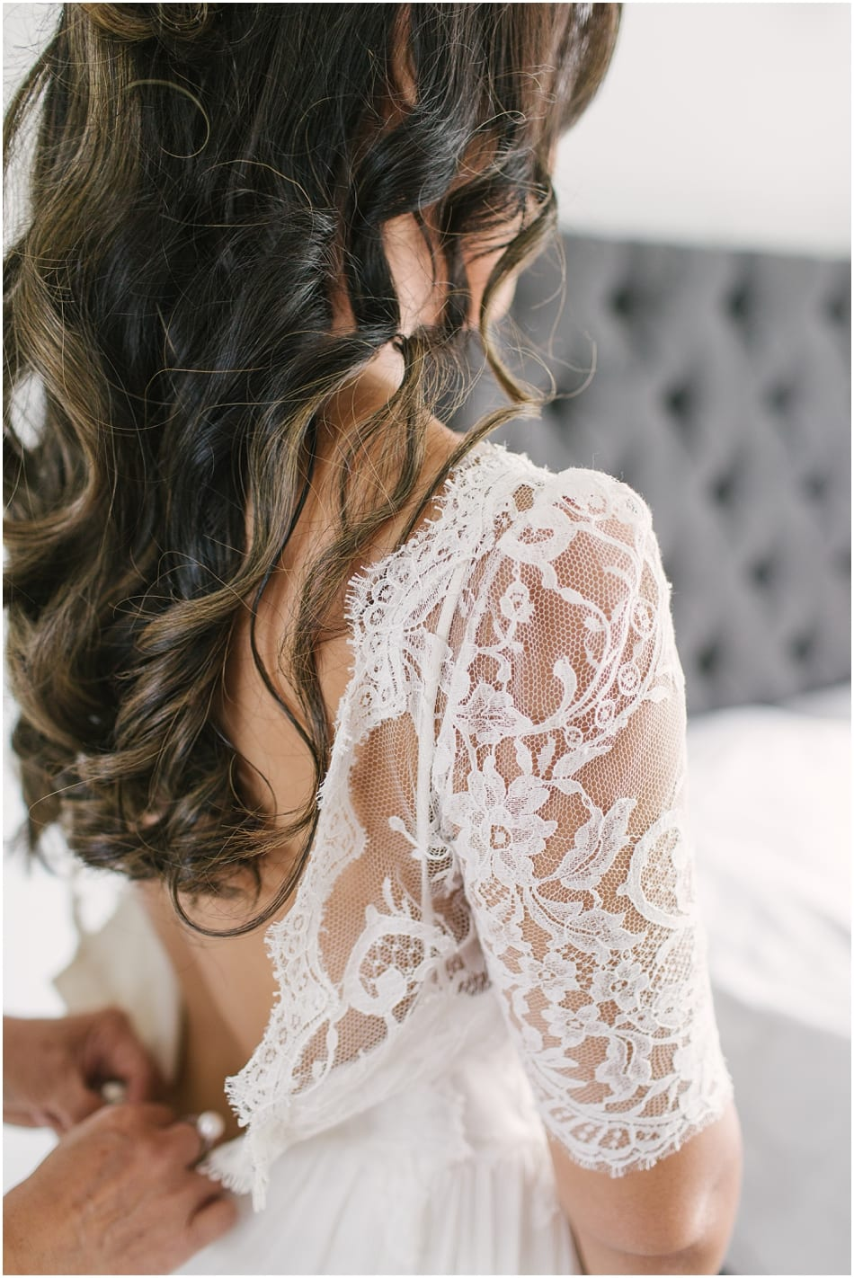 Modern boho Dana Bolton wedding dress