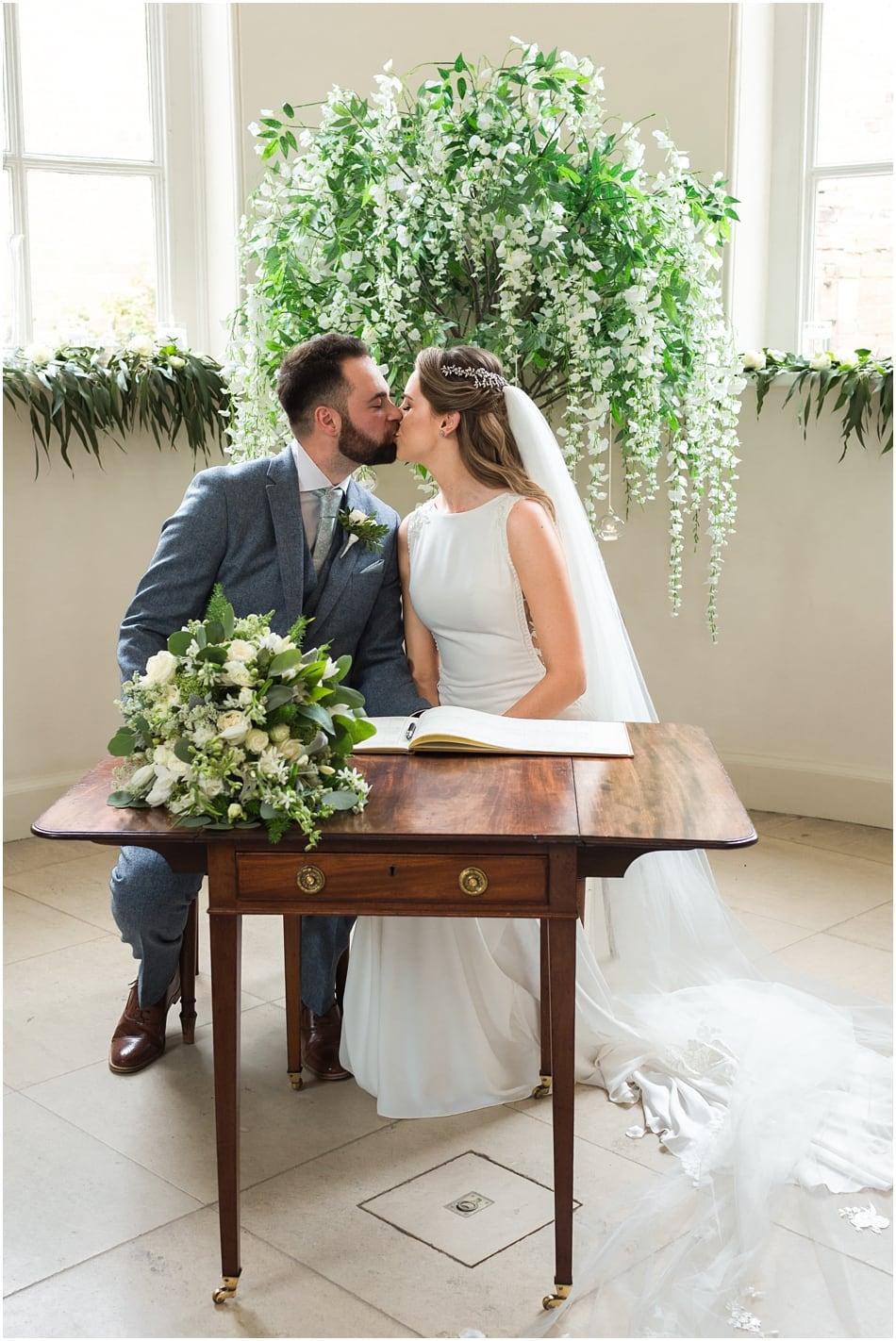 Iscoyd Park wedding photography| ceremony room