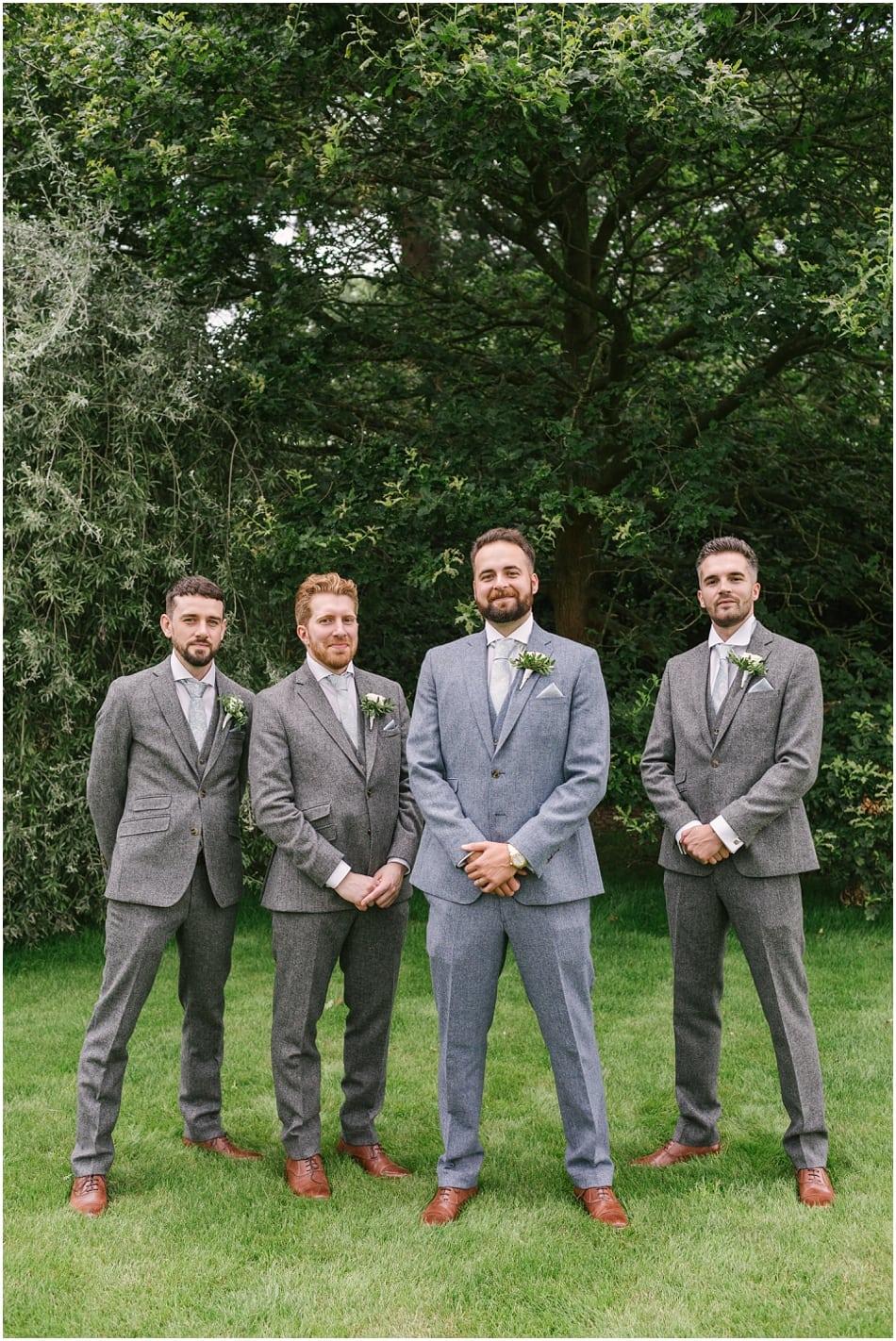 Groomsmen at an Iscoyd Park wedding