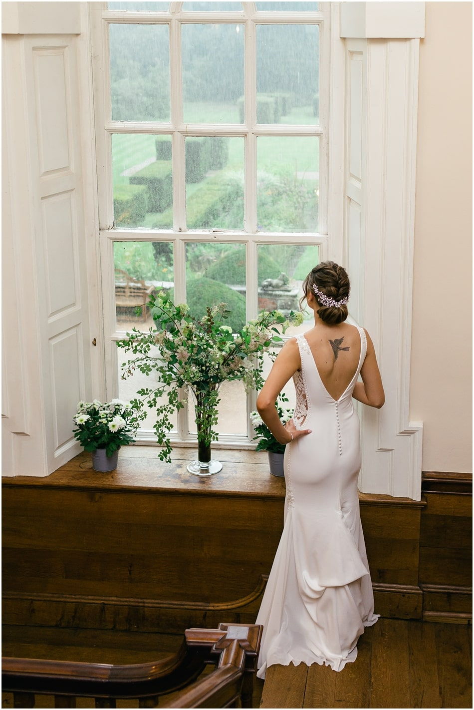 Bride wearing Pronovias at Iscoyd Park wedding