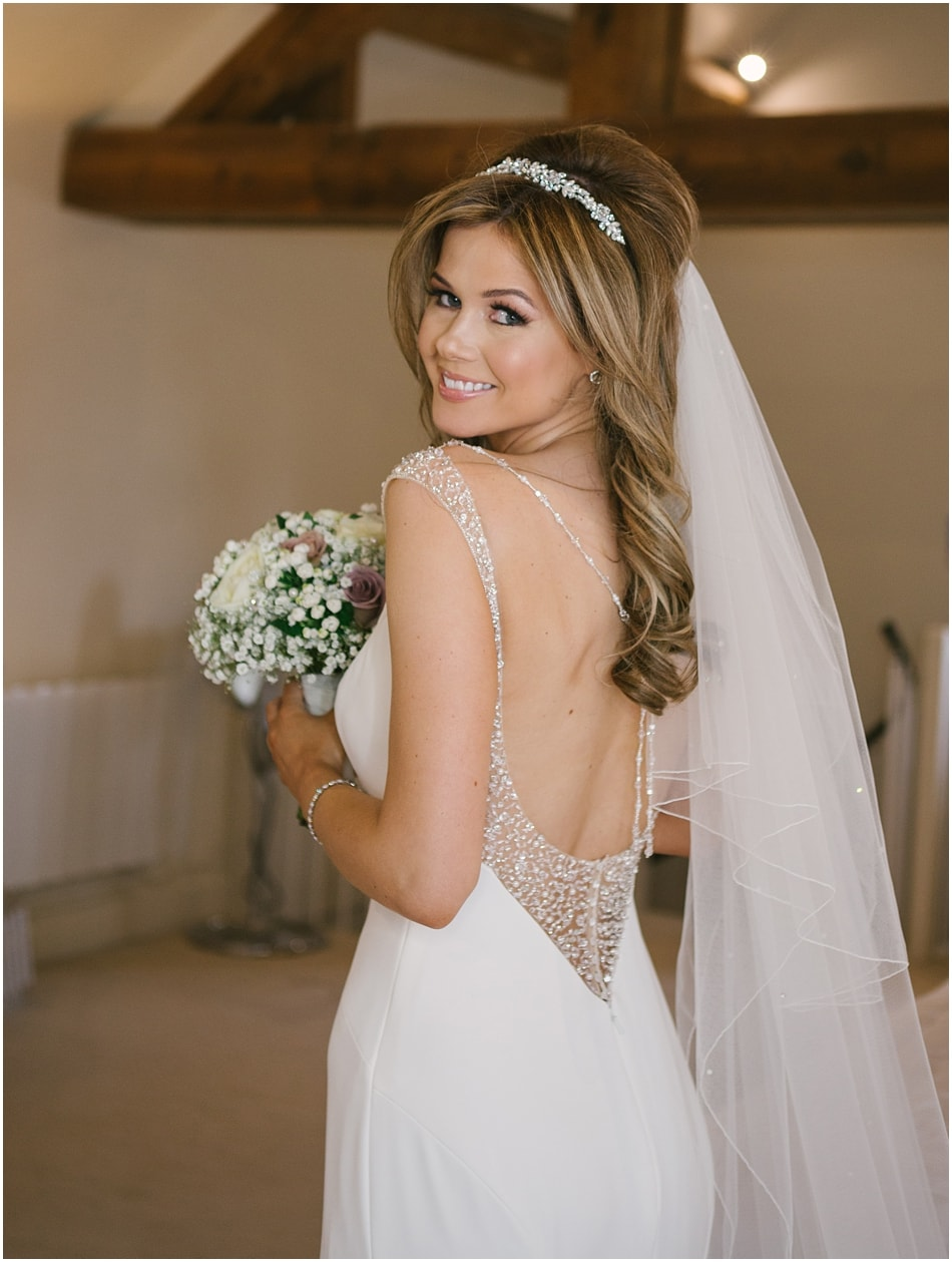 Alrewas Hayes wedding photography; Bridal portrait in the Bridal Suite